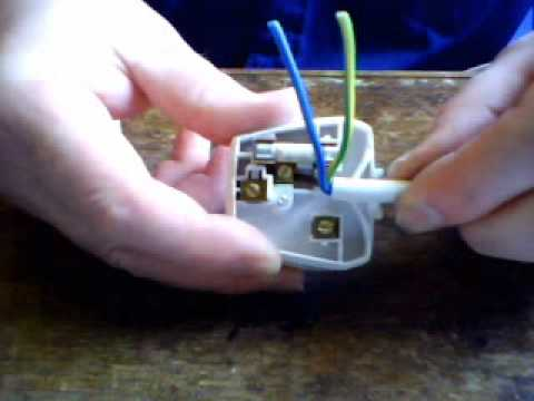 wiring a 3 pin plug part 2 - YouTube