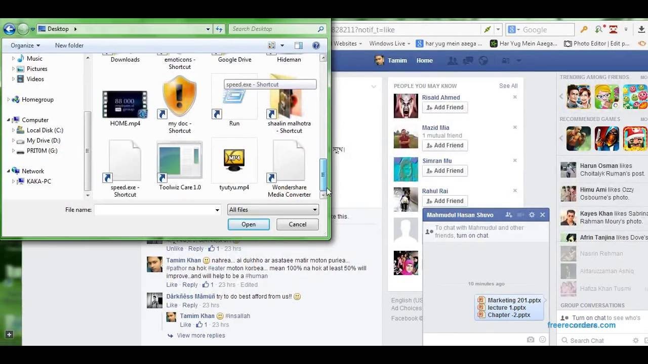 How to send files through facebook message | SEND FILES BY ANY BROWSER