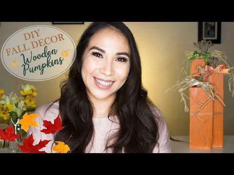 DIY FALL DECOR | Wooden Pumpkins