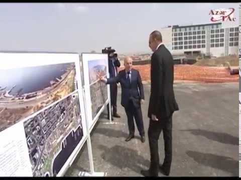 Президент Ильхам Алиев ознакомился с работой, ведущейся на бакинском бульваре «Белый город»