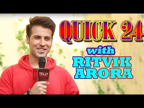 Quick 24 with Ritvik Arora aka Ahaan Of Tu Aashiqui   A Fun Rapid Fire   Telly Reporter Exclusive