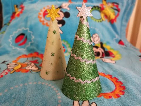 DIY How To Make Christmas Tree Using Paper Cone | Christmas Craft