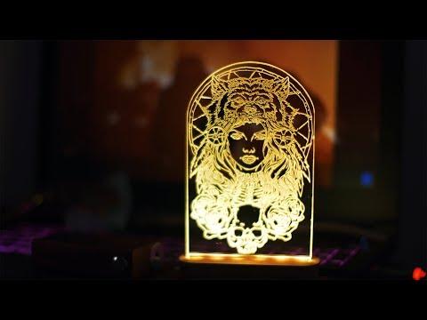 DIY Decorative acrylic RGB lED Lamp