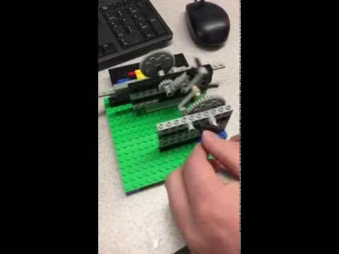 Lego Reciprocating Motion Mechanism in SLOW-MO