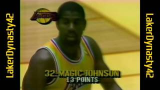 James Worthy 1987 Finals: 33pts, 9rebs & 10asts, Gm 1 vs. Celtics