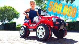 $ 500.000 ПОДПИСЧИКОВ у Николь Nikol CrazyFamily !! СУПЕР ТАЧКА ДЛЯ Николь !! БЛОНДИНКА ЗА РУЛЕМ :)