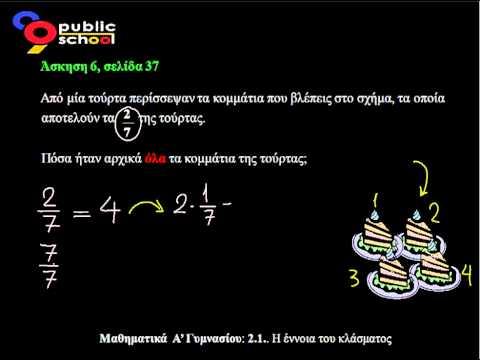 2.1. Μαθηματικα Εννοια κλασματος άσκ6 Α ΓΥΜΝΑΣΙΟΥ