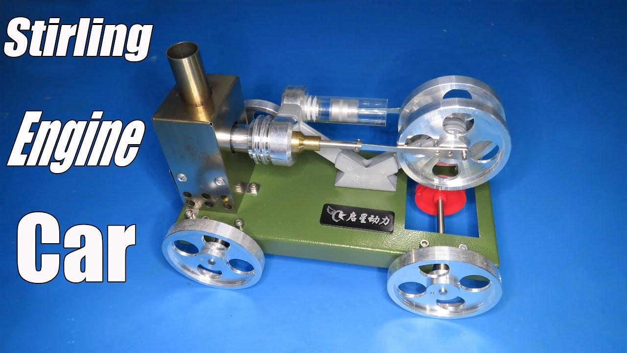 Assembly Stirling Engine Car DIY Model Trolley Vehicle Set Toy