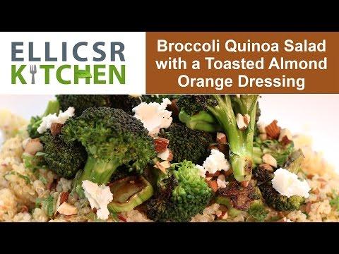 Broccoli Quinoa Salad With A Toasted Almond Orange Dressing