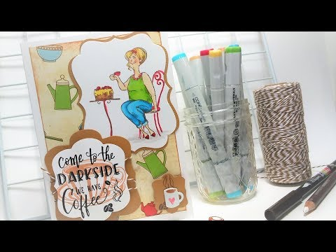 Come to the Darkside, We have COFFEE! {Cardmaking Tutorial}