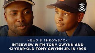 Interview with Tony Gwynn and 12-year-old Tony Gwynn Jr. in 1995
