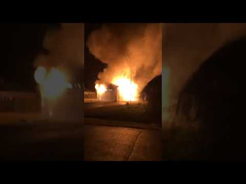 Linthicum Drive Working Garage Fire 1 of 2