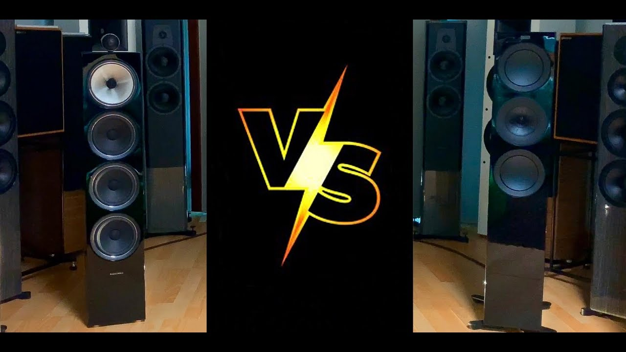 SOUND BATTLE!!! B&W 702 S2 vs KEF R7 (4K HD Audio) And the winner is?