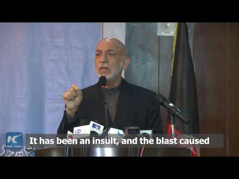 Former Afghan president denounces use of massive bomb in eastern province