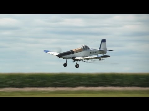 Fixed Wing Aerial Application by Hendrickson Flying Service on 7-24-2013