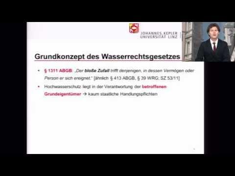 Cyber-Forum 2014: Thomas Trentinaglia, Hochwasser im Wasserrecht