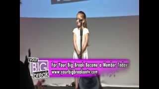 Singer Zola Vilshenker performing on Your Big Break on TV!