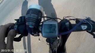 Электровелосипед самодельный 75 км/ч  Homemade electric bikes 75 km / h(На самодельном электро велосипеде обгоняю машину как стоячую., 2014-06-08T18:50:41.000Z)