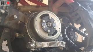 Как снять ротор без сьемника на питбайке ирбис ттр 125.