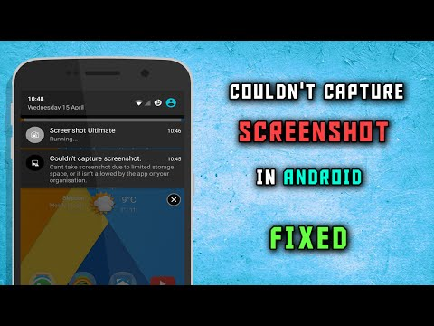 Couldn't Capture Screenshot in Android | FIXED - YouTube