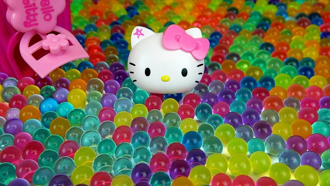 Baby doll and Orbeez Hello Kitty toys  more Kinder Joy Surprise