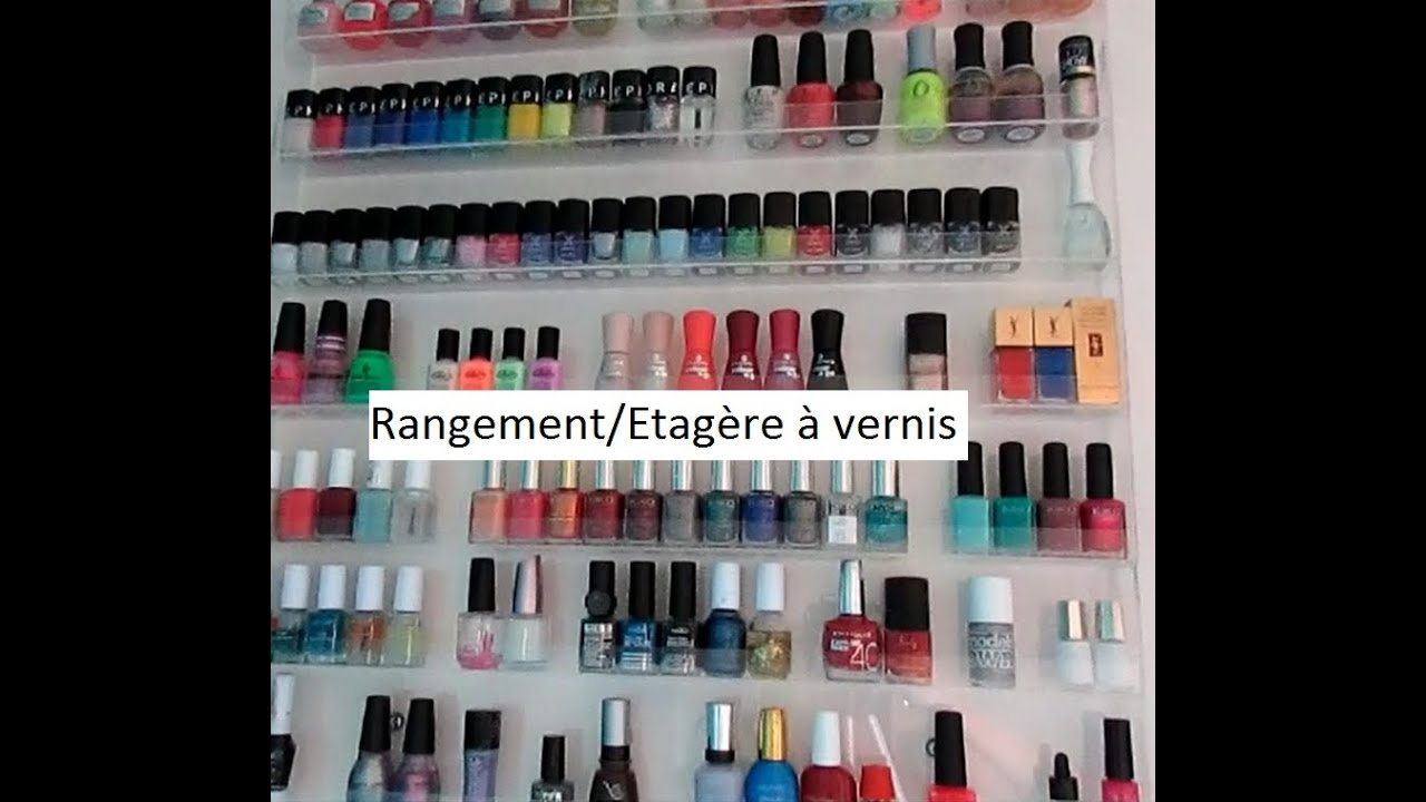 rangement vernis avant apr s tag re transparente youtube. Black Bedroom Furniture Sets. Home Design Ideas