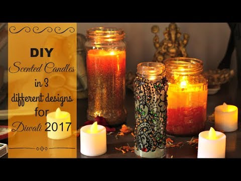 DIY Home Decor: DIY Scented Candles | How to make Scented Candles: 3 ...