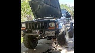 Cherokee XJ cutting fenders to fit 33's