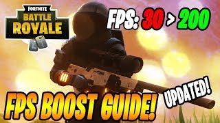 Fortnite - How To Get More FPS PC (FPS Boost Guide/Tutorial 2018)