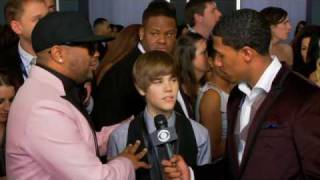 52nd Grammy Awards - Justin Bieber/The-Dream Interview