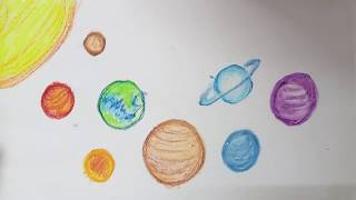 Solar System Planets Drawing & Colouring | Fun Learning Video For Kids | Space Picture