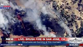 WATCH: A Motivational Message San Jose Brush Fire (FNN)