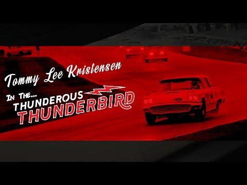 TOM KRISTENSEN wrestles a 1959 FORD THUNDERBIRD from last   2017 St Mary's Trophy   Goodwood Revival