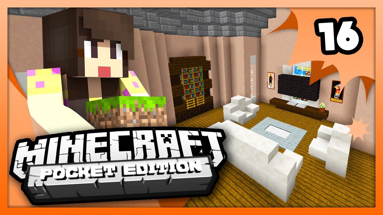 Minecraft Pe Pocket Edition Living Room Design Ep Youtube