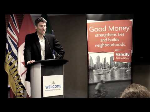 City of Vancouver Mayor Gregor Robertson supports Vancity Humanitarian Fund