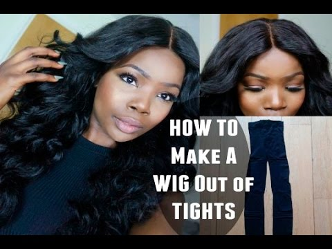 How To Make A Full Wig Using Just Tights Diy Dome Cap ︎