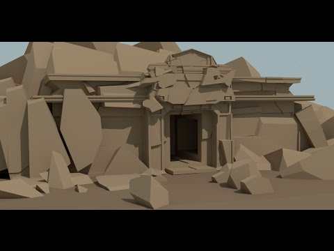 Blender 3D 2.77 making a Temple ruin requested video