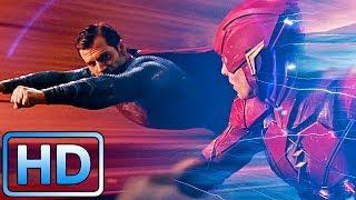 Посоревнуемся? Флэш и Супермен спасают горожан / Лига справедливости (2017)