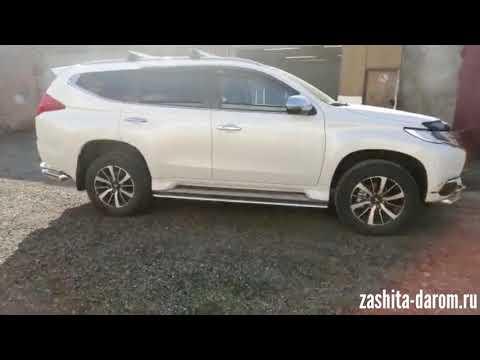 Защита бамперов, порогов и фаркоп на Mitsubishi Pajero Sport