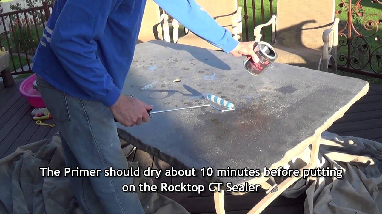 Concrete Countertop Sealer Rocktop CT  Roller Application   YouTube