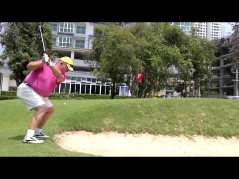 6th Hole ZZ Bunker Shot Asia Pattaya Golf Course Thailand