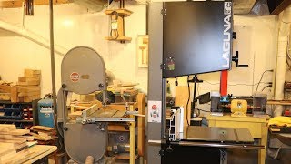 Laguna 18bx Bandsaw Making Room, Setup, And Problems Update 1/2 the replacement parts on the way.