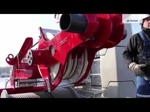 TADANO-ATF 400G-6 Erection of 76 m Luffing Jib