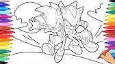 Sonic Vs Shadow Coloring Pages Sonic Shadow Fights Drawing Of