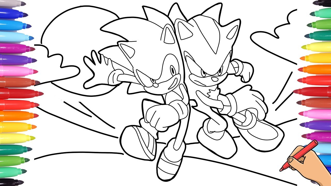 realistic sonic the hedgehog movie coloring pages