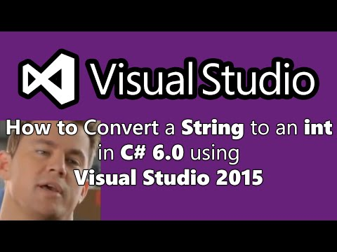 How To Convert/Parse a String to an Int in C# 6.0 using Visual Studio 2015