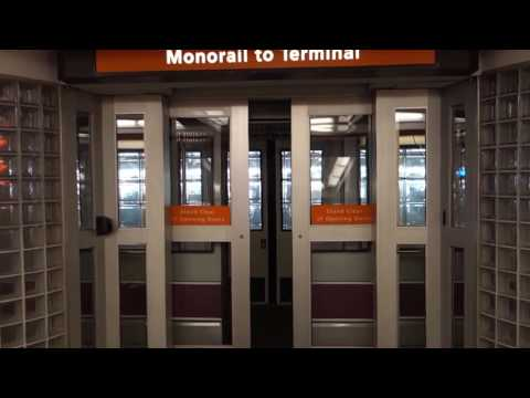 1991 Universal Mobility Inc. UMIII Monorail Train to all Elevators at Tampa Int'l Airport, Tampa, FL