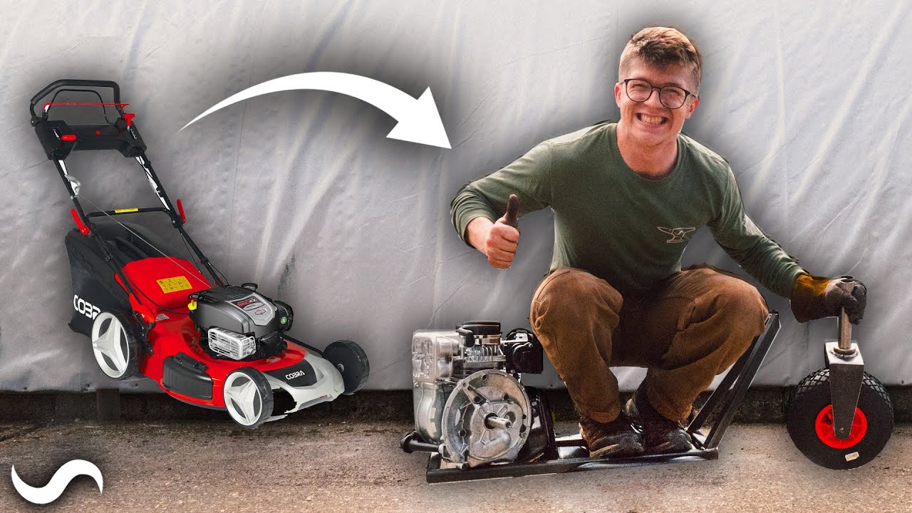 LAWNMOWER POWERED SCOOTER BUILD!!! Part 1