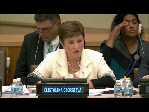 UN Secretary-General Candidate Ms. Kristalina Georgieva answering questions from Civil Society