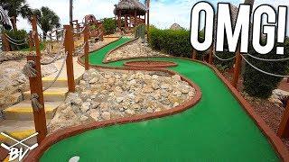 TRIPLE Mini Golf Hole Option and Mini Golf Hole In Ones!